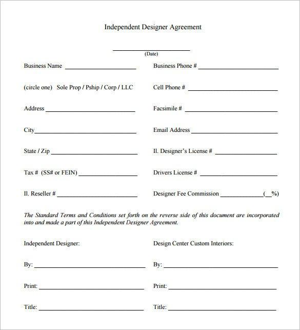 Interior Design Contracts Templates 6 Interior Designer Contract Templates – Free Word Pdf