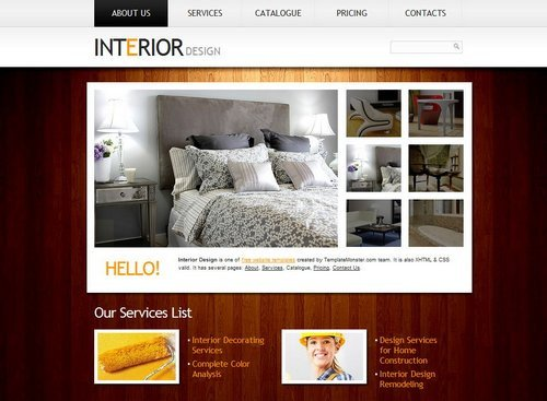Interior Design Portfolio Template 40 Great Free Portfolio Designs Css HTML