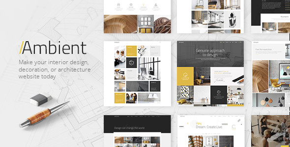 Interior Design Portfolio Template Ambient Modern Interior Design and Decoration theme by