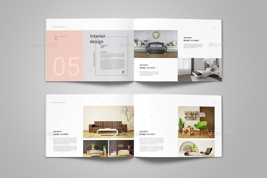 Interior Design Portfolio Template Graphic Design Portfolio Template by Adekfotografia