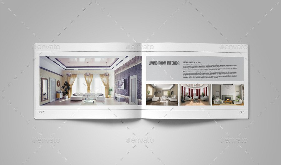 Interior Design Portfolio Template Portfolio Brochure Template On Behance