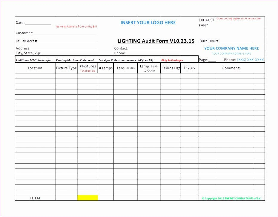 Internal Audit Checklist Template Excel Home Energy Audit Excel Spreadsheet Homemade Ftempo