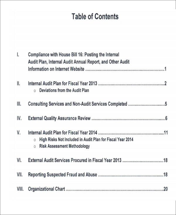 Internal Audit Report Samples 15 Sample Internal Audit Reports Word Pdf Pages