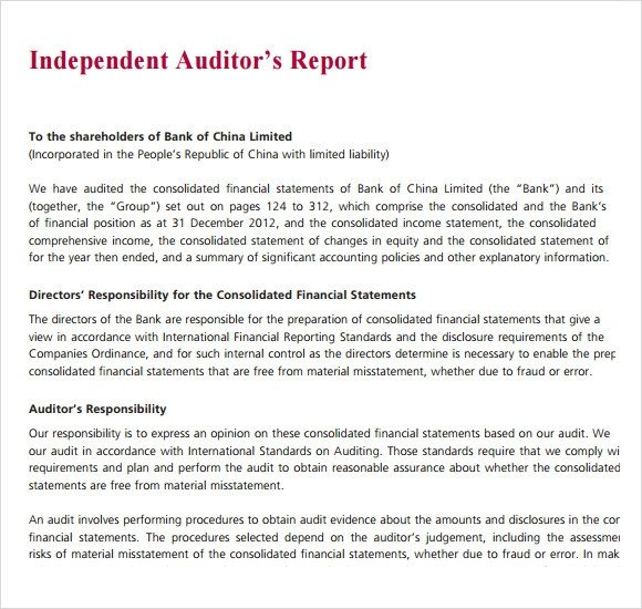 Internal Audit Report Samples Sample Audit Report 16 Documents In Pdf Word