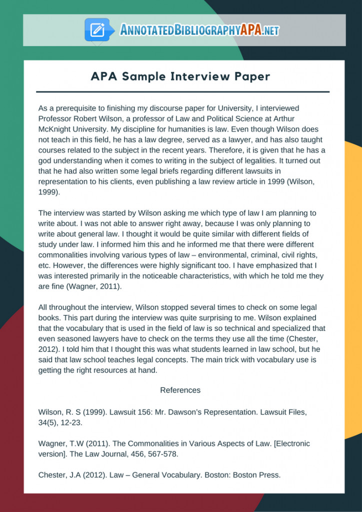 Interview Essay Examples Free Check Out Flawless Sample Interview Paper In Apa format
