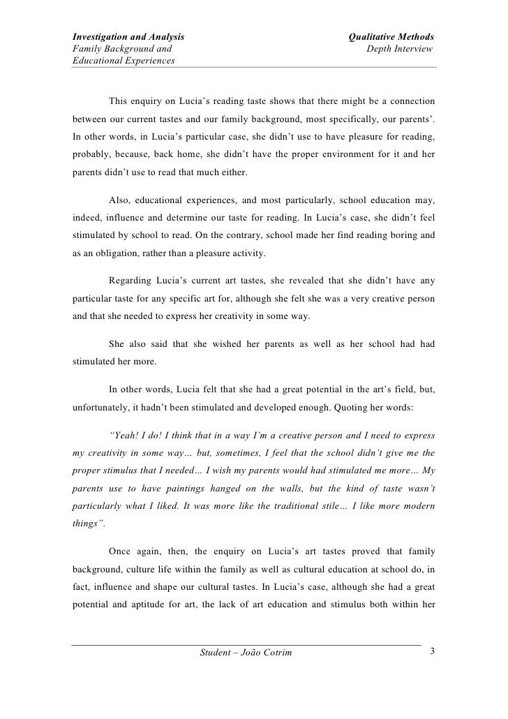 Interview Essay Examples Free Interviewing A Family Member Essay Writefiction581 Web