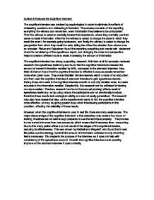 Interview Essay Examples Free Outline & Evaluate the Cognitive Interview A Level
