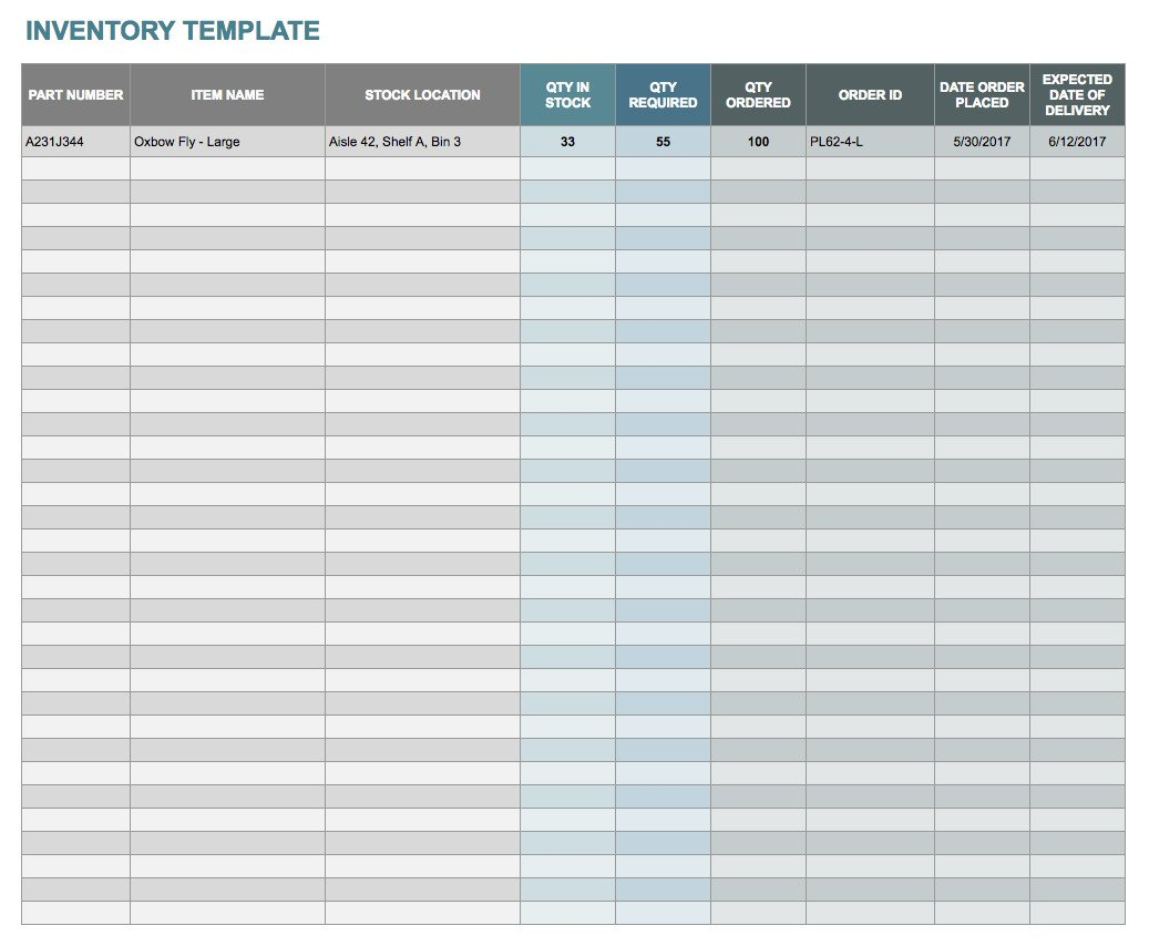Inventory Template Google Sheets Free Google Docs and Spreadsheet Templates Smartsheet