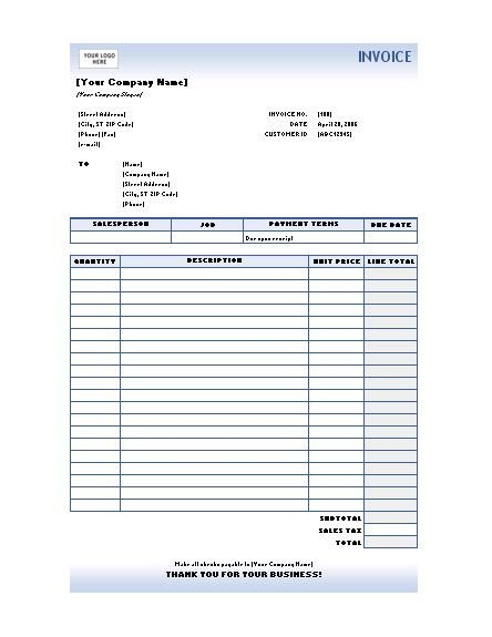 Invoice Template for Excel Free Excel Invoices Templates Download
