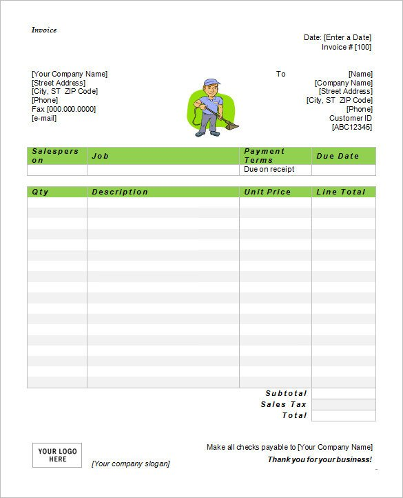 Invoice Template for Word 60 Microsoft Invoice Templates Pdf Doc Excel