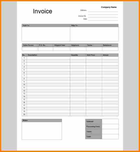 Invoice Template Google Drive 4 Bill Template Google Docs
