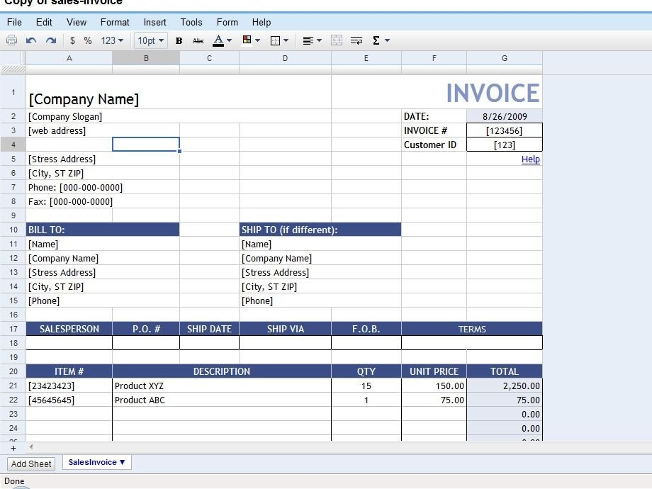 Invoice Template Google Drive 50 Time Saving Google Docs Templates