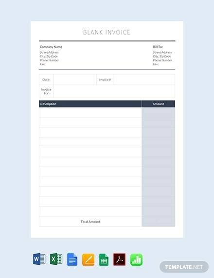 Invoice Template Google Sheets 54 Blank Invoice Template Word Google Docs Google Sheets