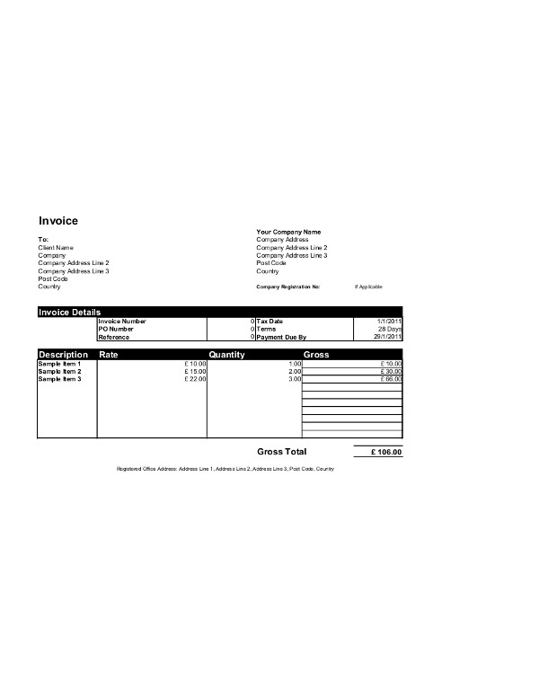 Invoice Template Microsoft Word Free Invoice Templates for Word Excel Open Fice