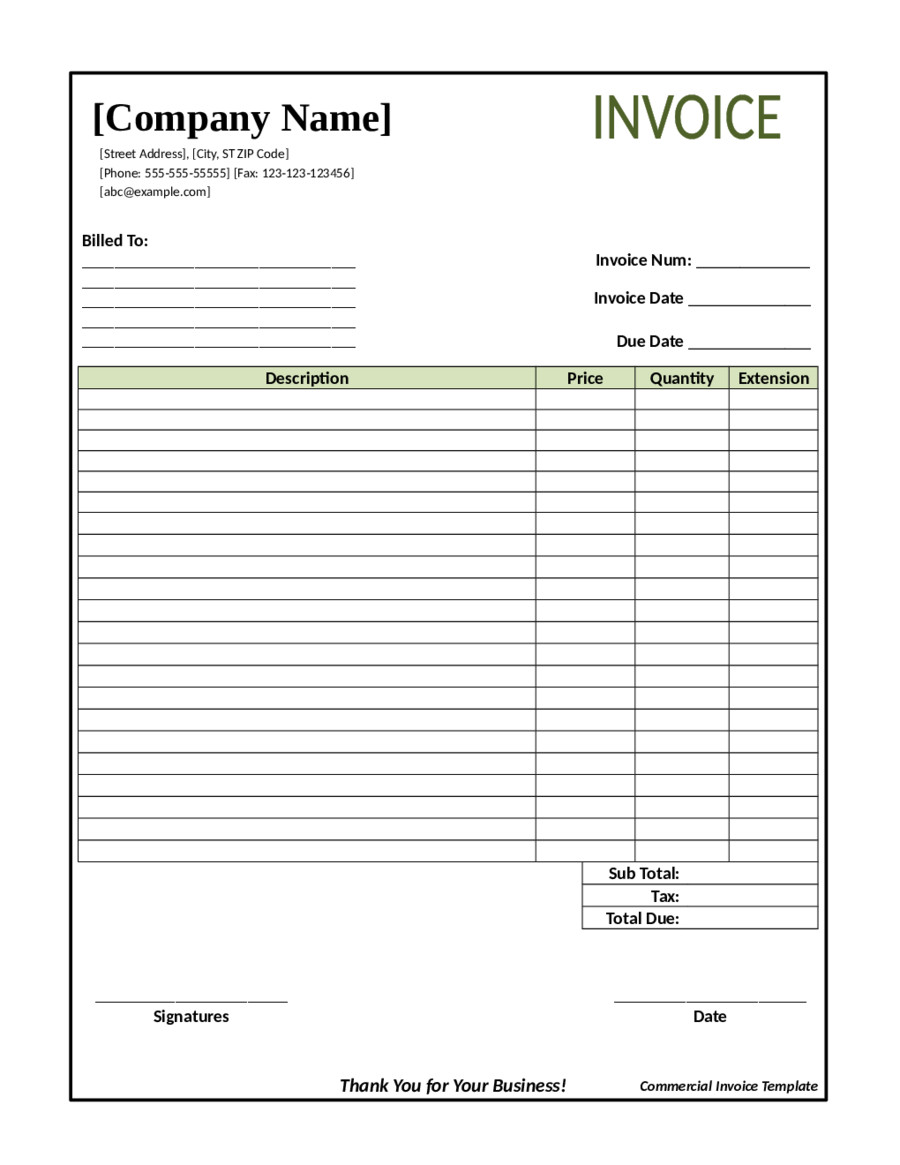 Invoice Template Pdf Fillable 2018 Invoice Template Fillable Printable Pdf & forms