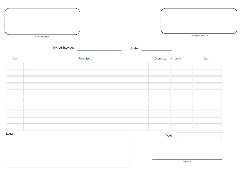 Invoice Template Pdf Fillable Templaterium T Business