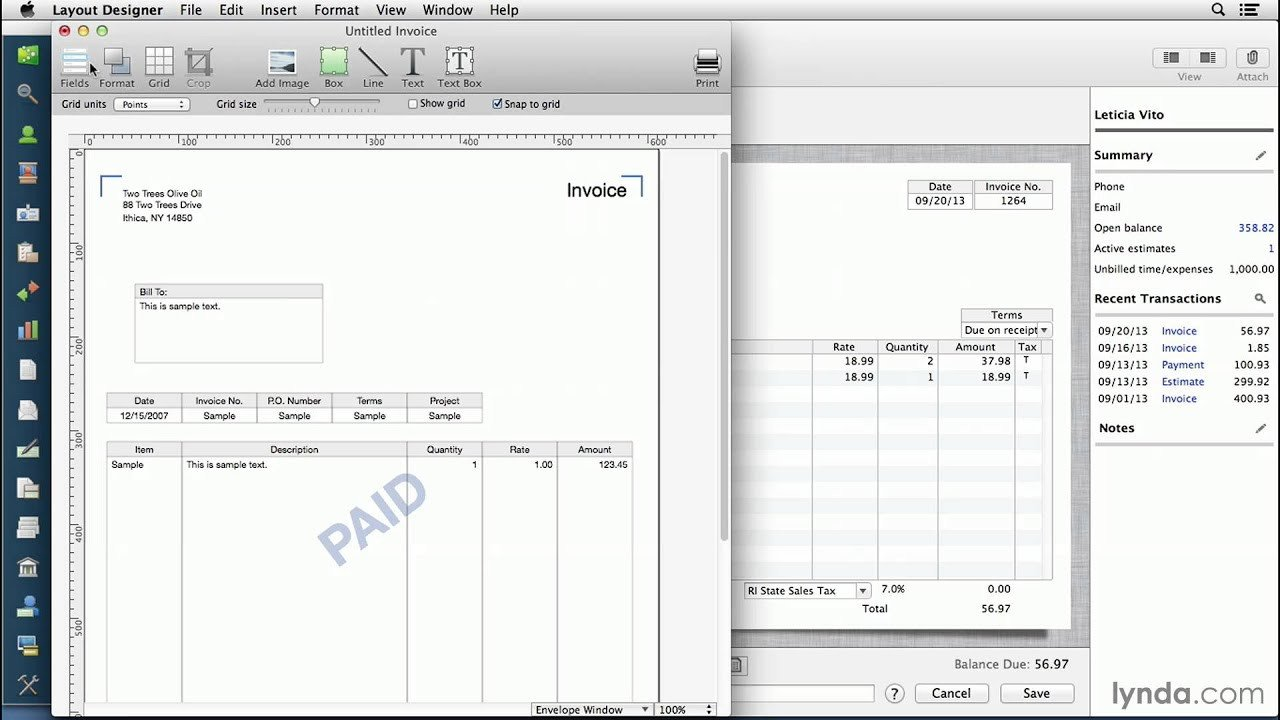 Invoice Templates for Macs Quickbooks for Mac Tutorial Customizing Invoices and
