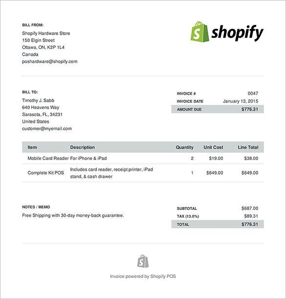 Invoice Templates for Macs Sample E Merce Invoice format Invoice Template for Mac
