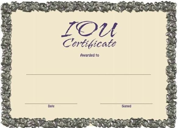 Iou Birthday Certificate 5 Unique Ways to Give Thanks the Other 364 Days A Year