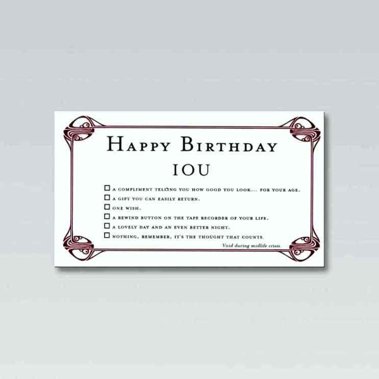 Iou Birthday Certificate Birthday Iou Template Update234 Template Update234