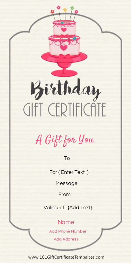 Iou Birthday Certificate Birthday T Certificate Template …