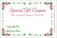 Iou Birthday Certificate Printable Romantic Gift Coupons