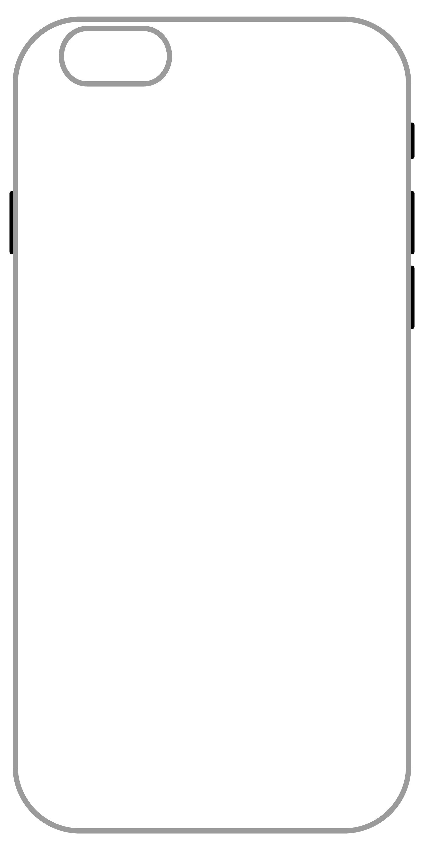 iPhone 6s Case Template Mobile Back Cover Outline – Nishant Arora