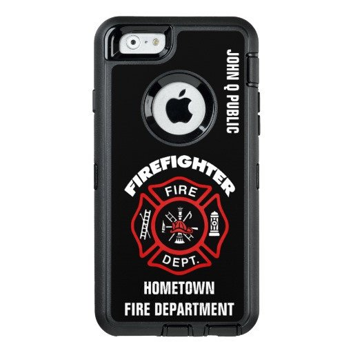 iPhone 6s Case Template Red Firefighter Name Template Otterbox iPhone 6 6s Case