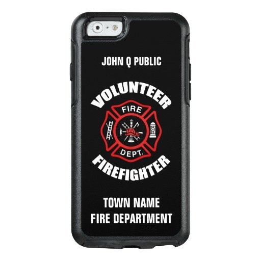 iPhone 6s Case Template Volunteer Firefighter Name Template Otterbox iPhone 6 6s
