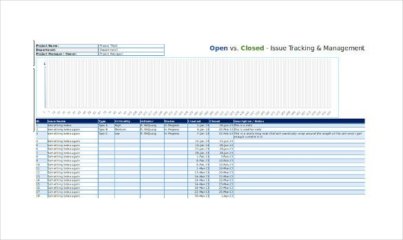 Issue Tracking Template Excel 4 issue Tracking Templates Free Word Excel Pdf