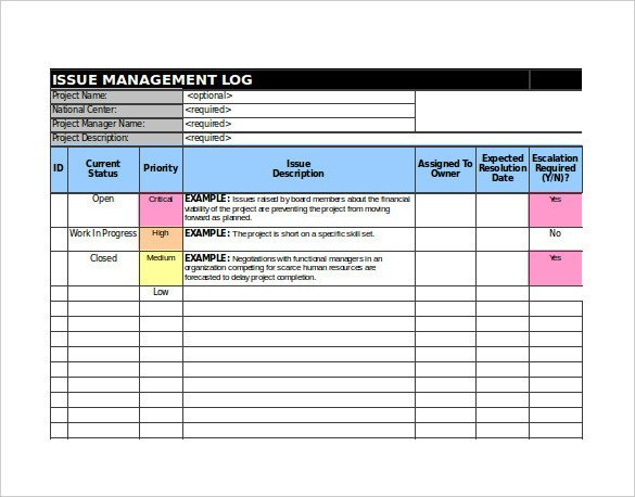 Issue Tracking Template Excel 9 issue Tracking Templates Free Sample Example format