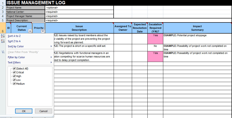 Issue Tracking Template Excel issue Tracking Template Excel Free Download