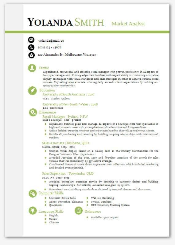 It Resume Template Word Cool Looking Resume Modern Microsoft Word Resume Template