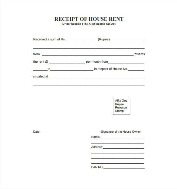Itemized Fee Worksheet Excel Rent Receipt Template 9 Free Word Excel Pdf format