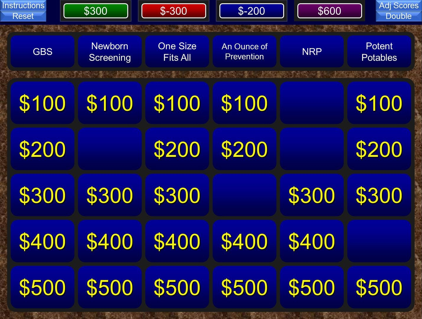 Jeopardy Powerpoint Template with Score A Free Powerpoint Jeopardy Template for the Classroom