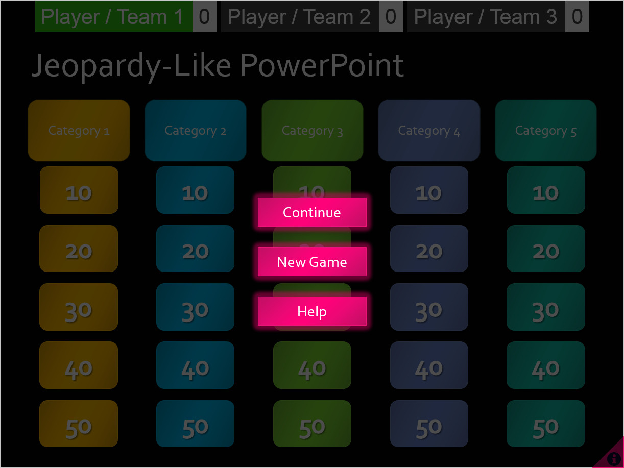 Jeopardy Powerpoint Template with Score Free Jeopardy Like Game In Powerpoint