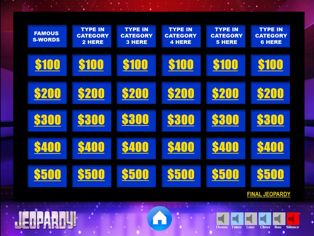 Jeopardy Powerpoint Template with Score Jeopardy Powerpoint Game Template Youth Downloadsyouth