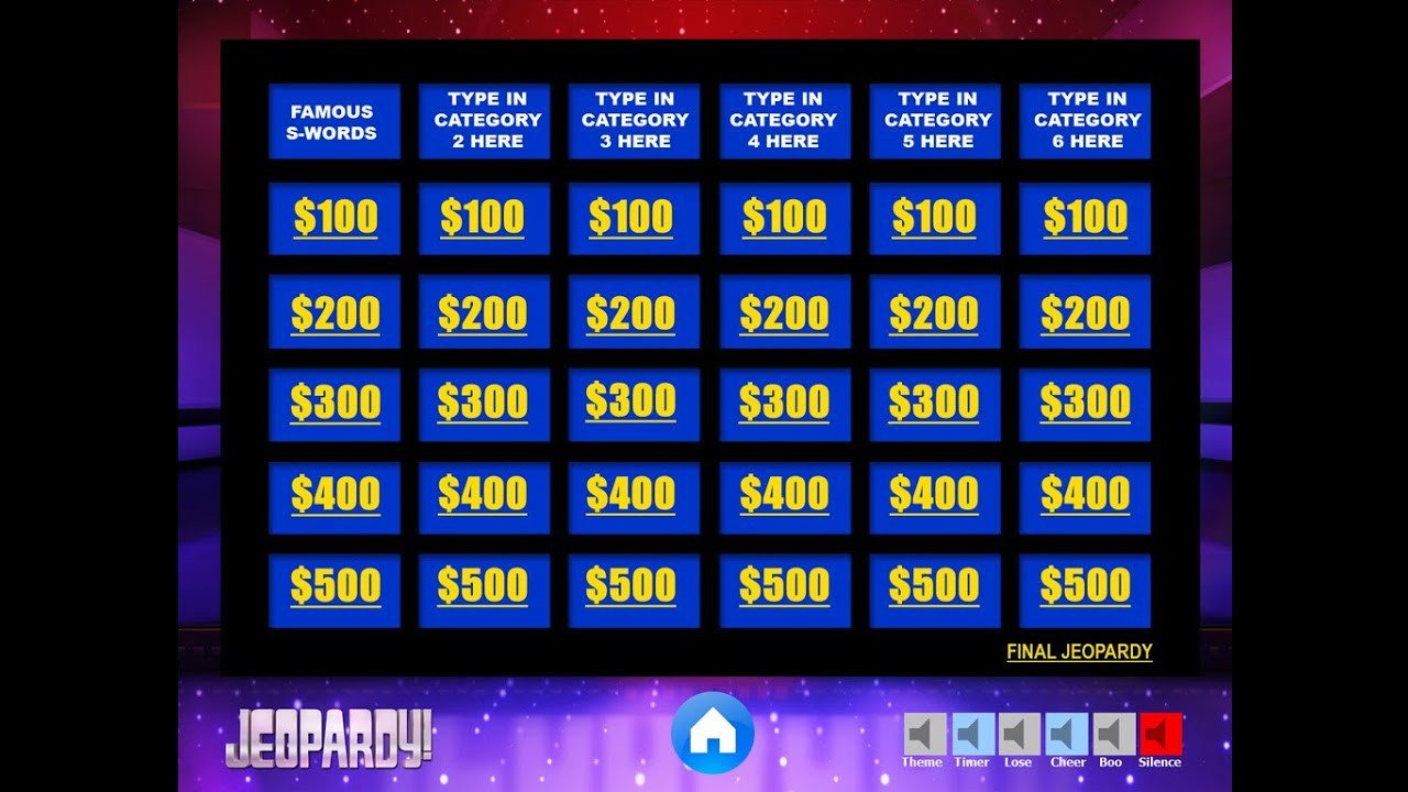 Jeopardy Template with sound Download the Best Free Jeopardy Powerpoint Template How