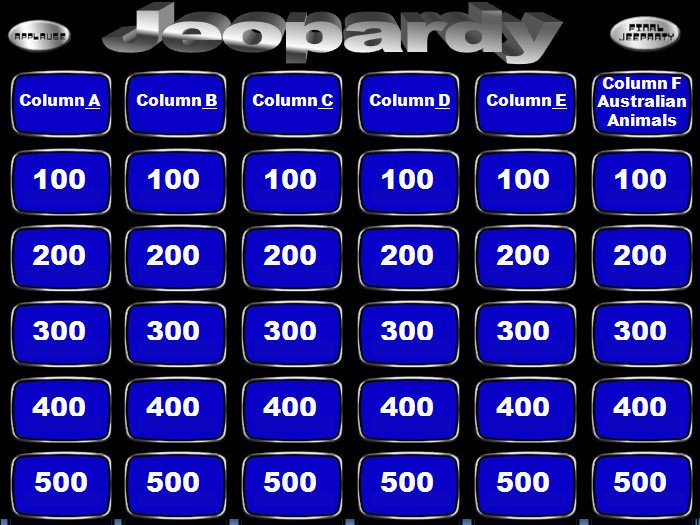 Jeopardy Template with sound Free Jeopardy Powerpoint Template with soundfor 2018
