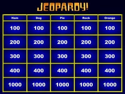 Jeopardy Template with sound Jeopardy Game Maker Great for whole Class Review