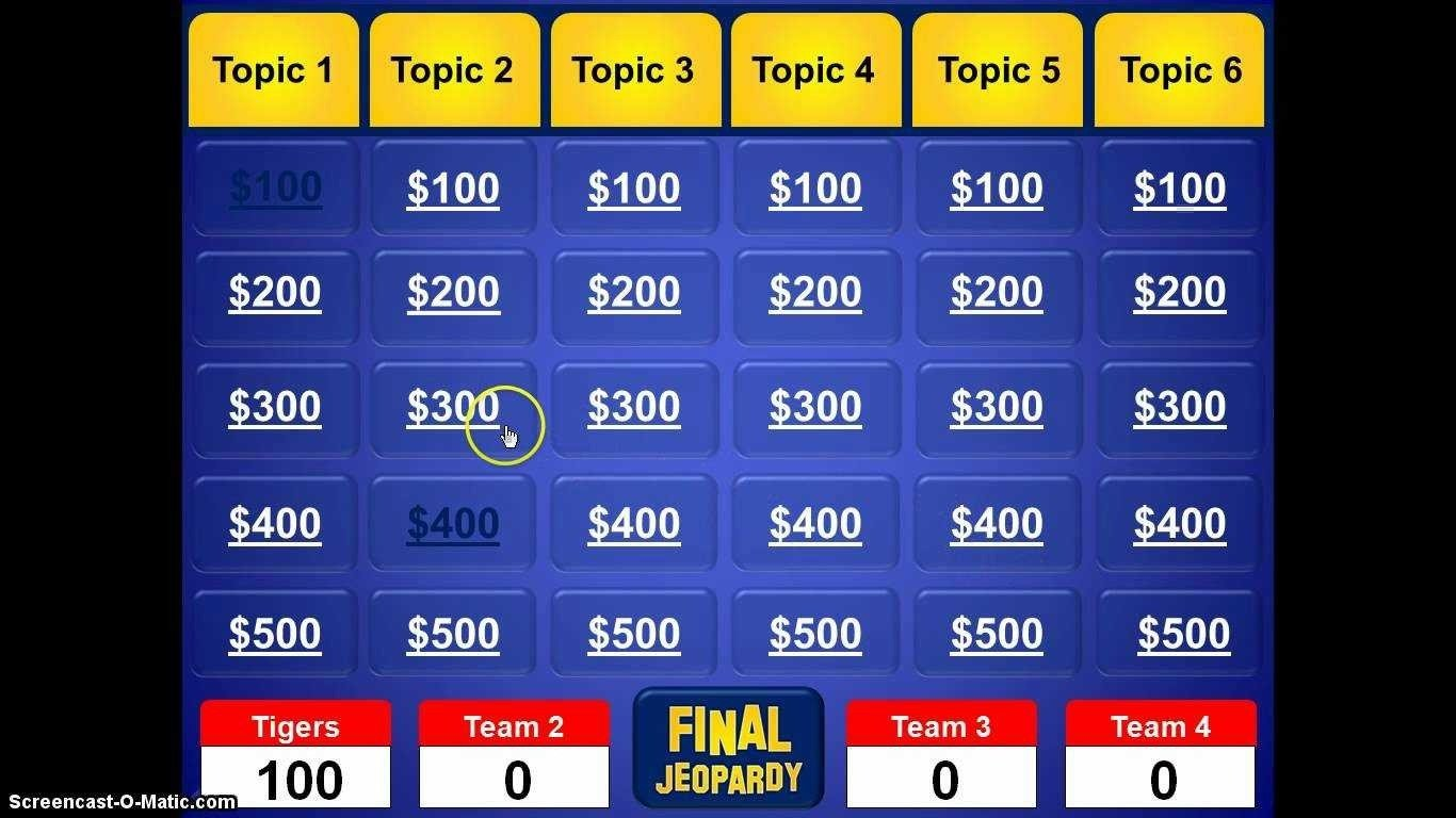 Jeopardy Template with sound Jeopardy Ppt Template with sound