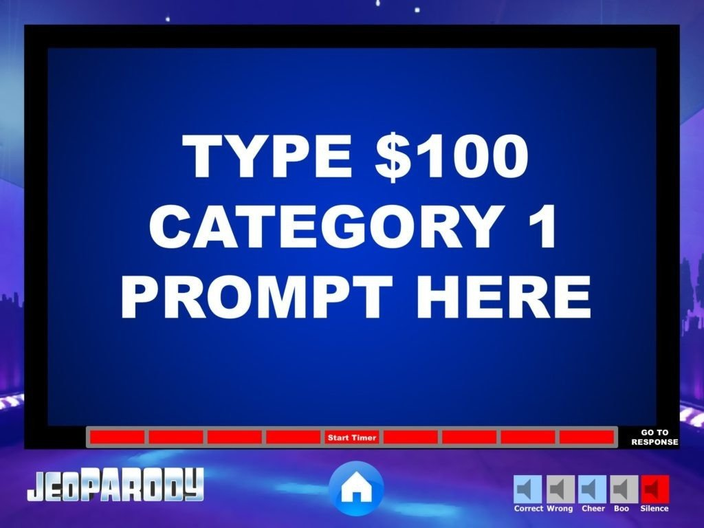 Jeopardy Template with sound Jeopardy Template with sound