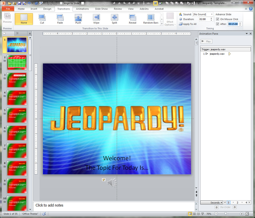Jeopardy Template with sound Making A Jeopardy Game Board In Powerpoint to Supplement