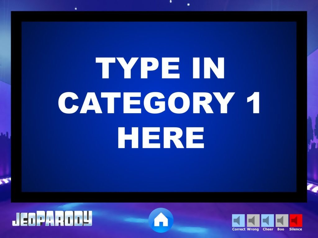 Jeopardy Template with sound Our Western Tradition Mr Smith S Gboard