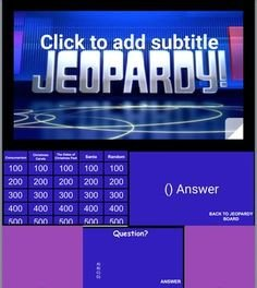 Jeopardy Template with sound This is the Best Jeopardy Powerpoint On the Internet