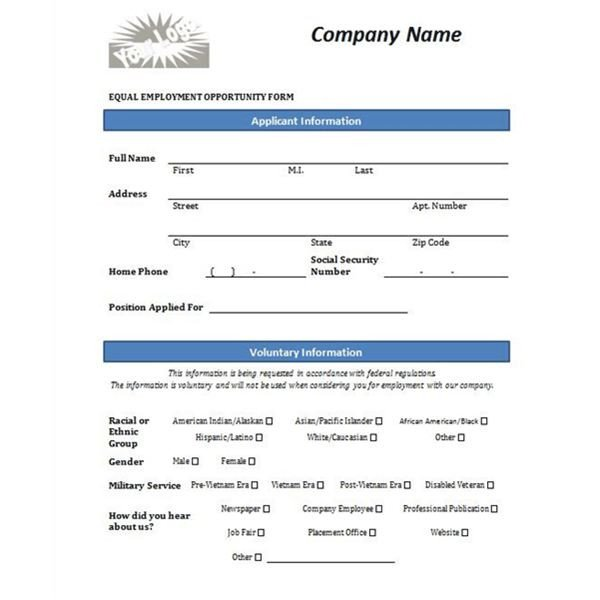 Job Application Template Word Document Four Free Downloadable Job Application Templates
