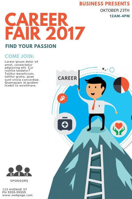 Job Fair Flyer Template Career Fair Flyer Template