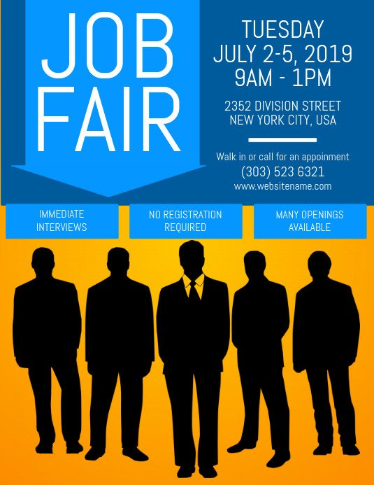 Job Fair Flyer Template Copy Of Job Fair Flyer