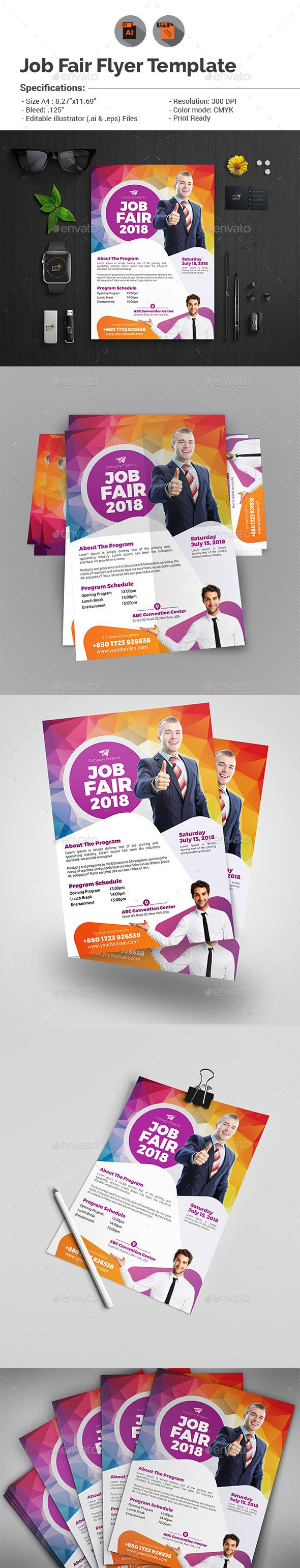 Job Fair Flyer Template Job Fair Flyer Template V2 by Aam360