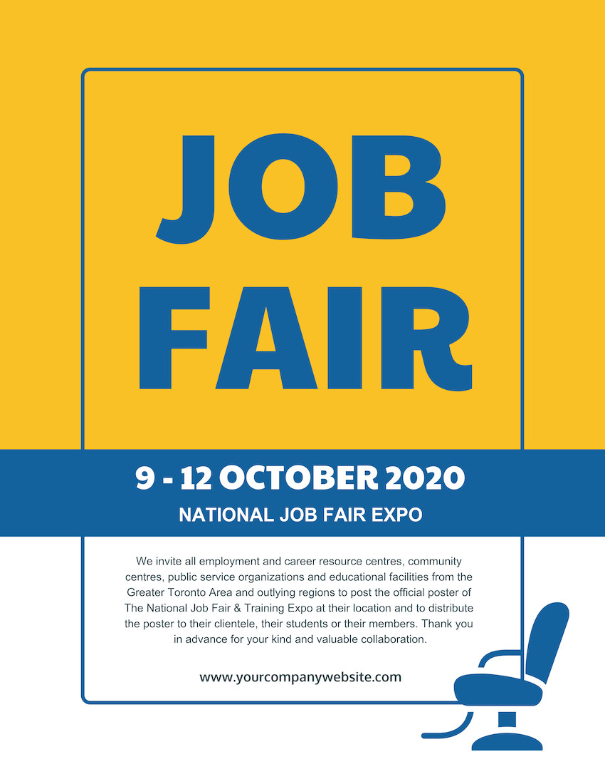 Job Fair Flyer Template Job Fair Flyer Template Venngage